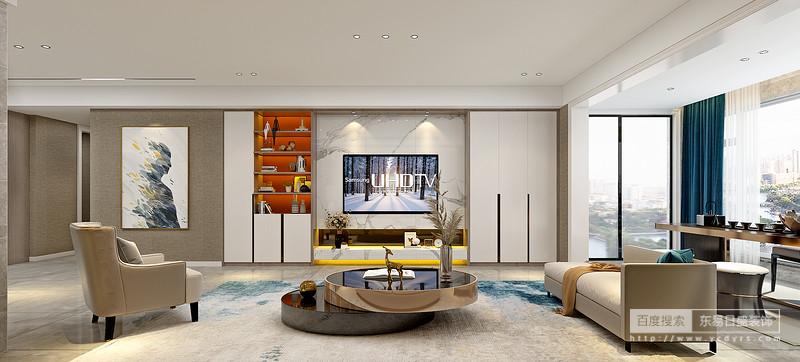 设计师钟情于色块重组的表现方法,对家具的温度调低后再进行搭配。空间仿佛蒙上了 一层灰调,颜色之间没有争奇斗艳,反而倒是相互制约的和谐存在,从容淡然间带来安静的 力量。