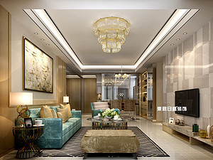 碧園印象桂林53#樣板房B戶型兩房兩廳80㎡現代輕奢裝修風格