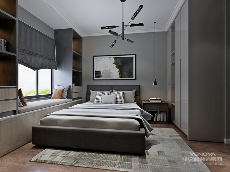 现代简约高级灰装修设计说明,现代简约风格一直深受大家的青睐,不仅仅是一种装修风格,更是一种生活态度。当现代简约遇上高级灰,更是营造出低调而不失优雅的居室空间。根据屋主的要求和喜好,设计师将高级灰作为全屋的主色调,当然,为了避免大幅度灰色带来的单调乏味,也加入了些其他色彩,如蓝色,黄色等,起到了很好的点亮作用。整体协调统一,打造了一个现代简约又舒适优雅的家!