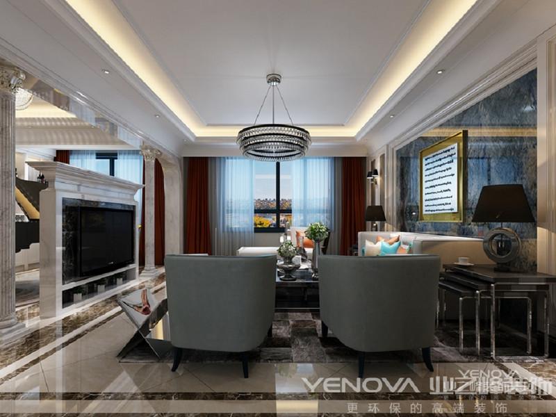 拉上阳台拉上窗帘,阳台独立开来形成独立空间,拉开单层白色窗纱,客厅在光线的照射下,给人不一样的恍若梦境的温馨浪漫空间。
