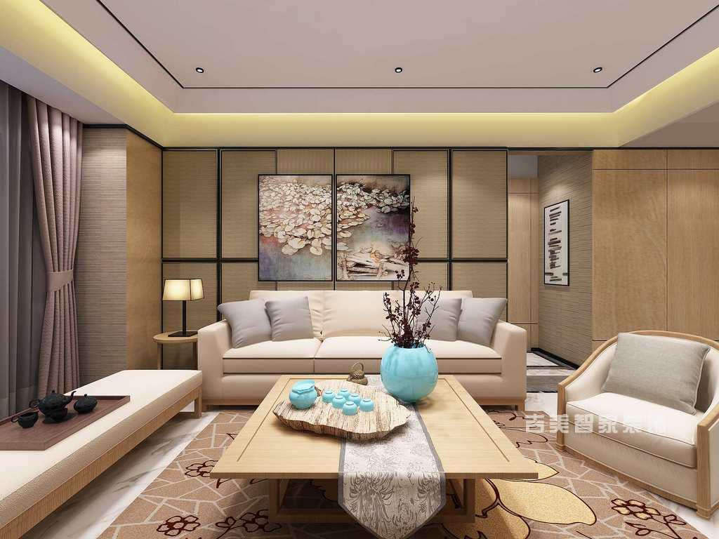 泰安云谷-新中式-客厅