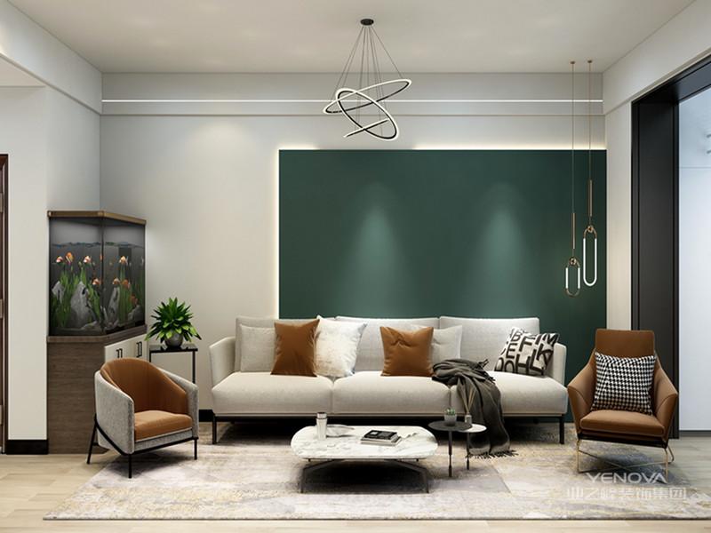 现代简约风格不尽可以时尚,也可以装修设计出无限温馨的舒适感。