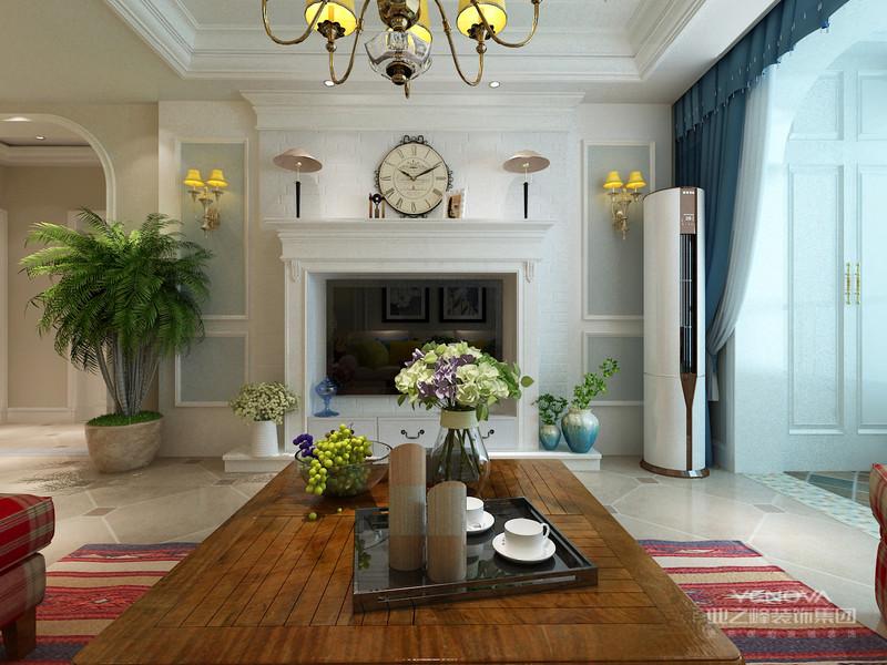 美式风格的餐厅中带有矩形图案的地砖,强调出餐厅空间的所属范围。粗犷、大气的美式餐桌椅,搭配以复古造型的角几会让人迷失在时光隧道中。