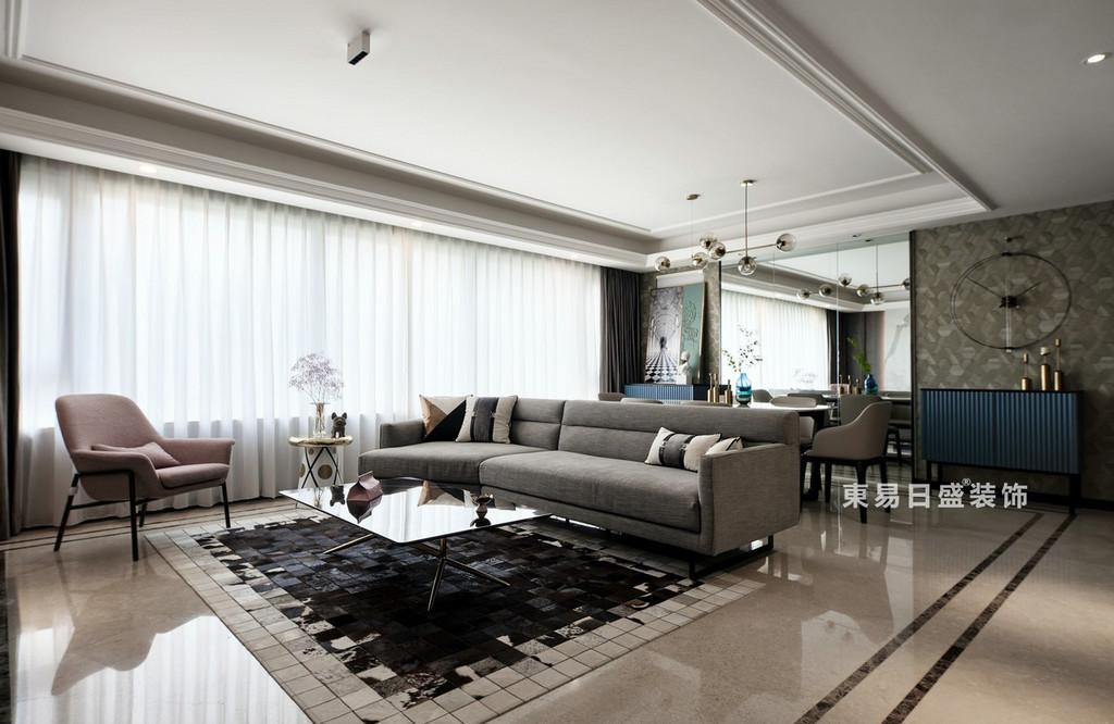 桂林万达城三居室125㎡现代风格:餐厅装修设计效果图