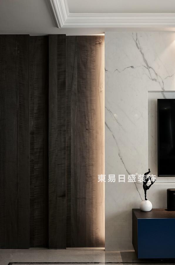 桂林万达城三居室125㎡现代风格:客厅隔断装修设计效果图