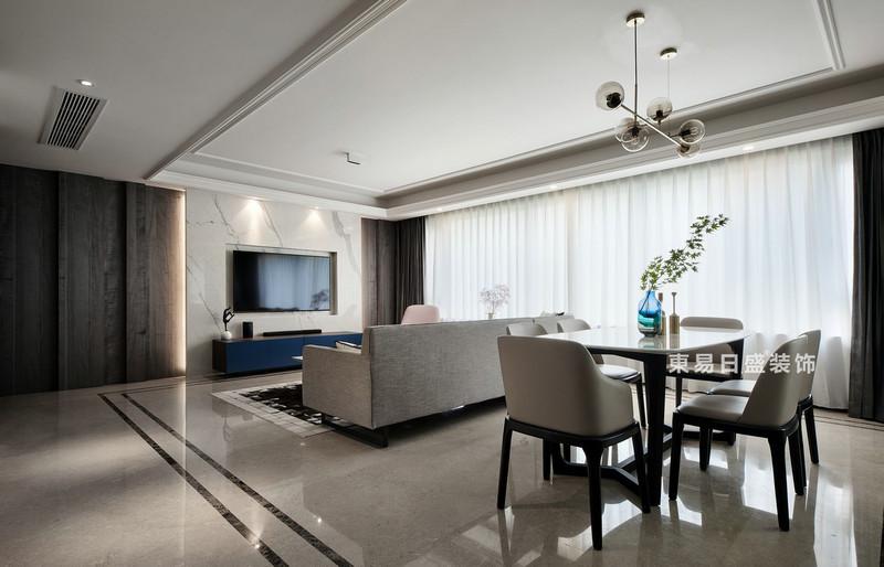 桂林萬達城三居室125㎡現代風格:客餐廳裝修設計效果圖