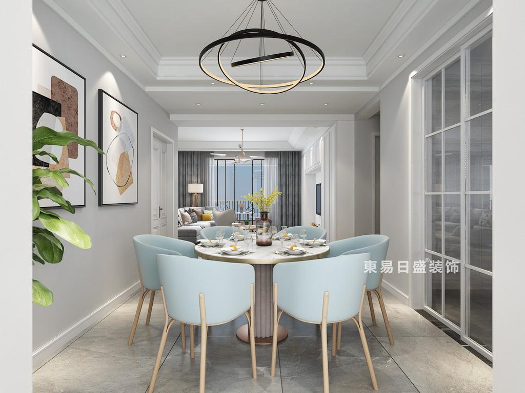 桂林四室三廳兩衛157㎡現代風格:餐廳裝修設計效果圖