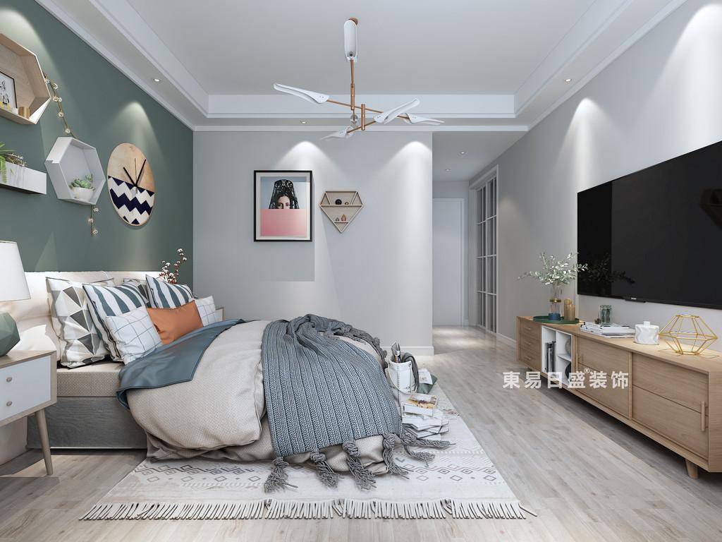 桂林四室三厅两卫157㎡现代风格:次卧室装修设计效果图
