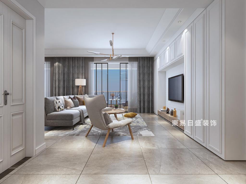 桂林四室三厅两卫157㎡现代风格:客厅装修设计效果图