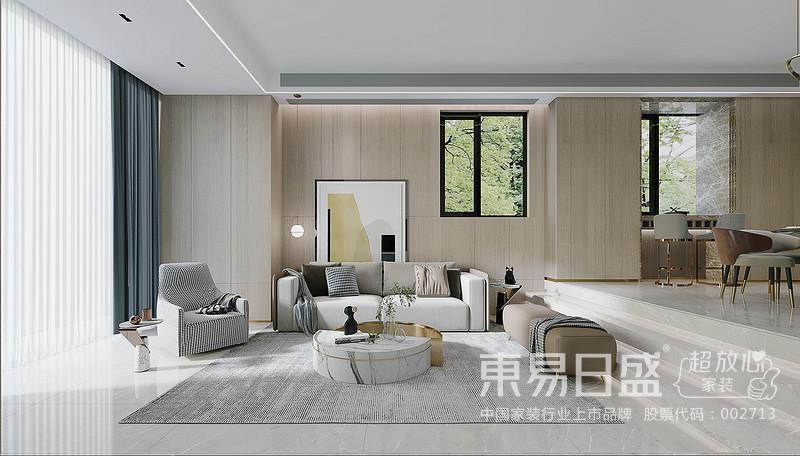 """客厅是一家人常待的""""中心点"""",舒适性、距离感都十分重要。"""