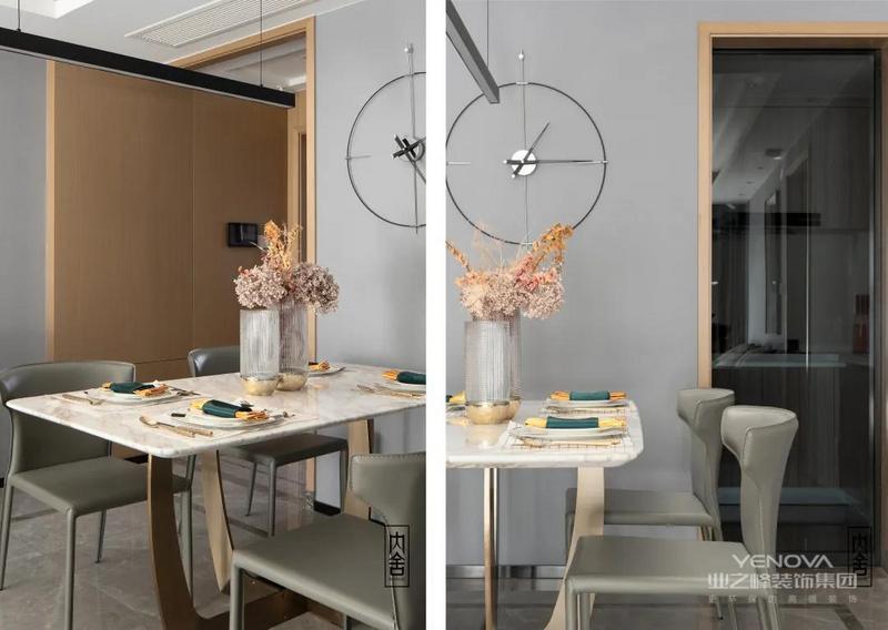 餐厅背景与沙背景保持一致,保持了空间风格的和谐统一。