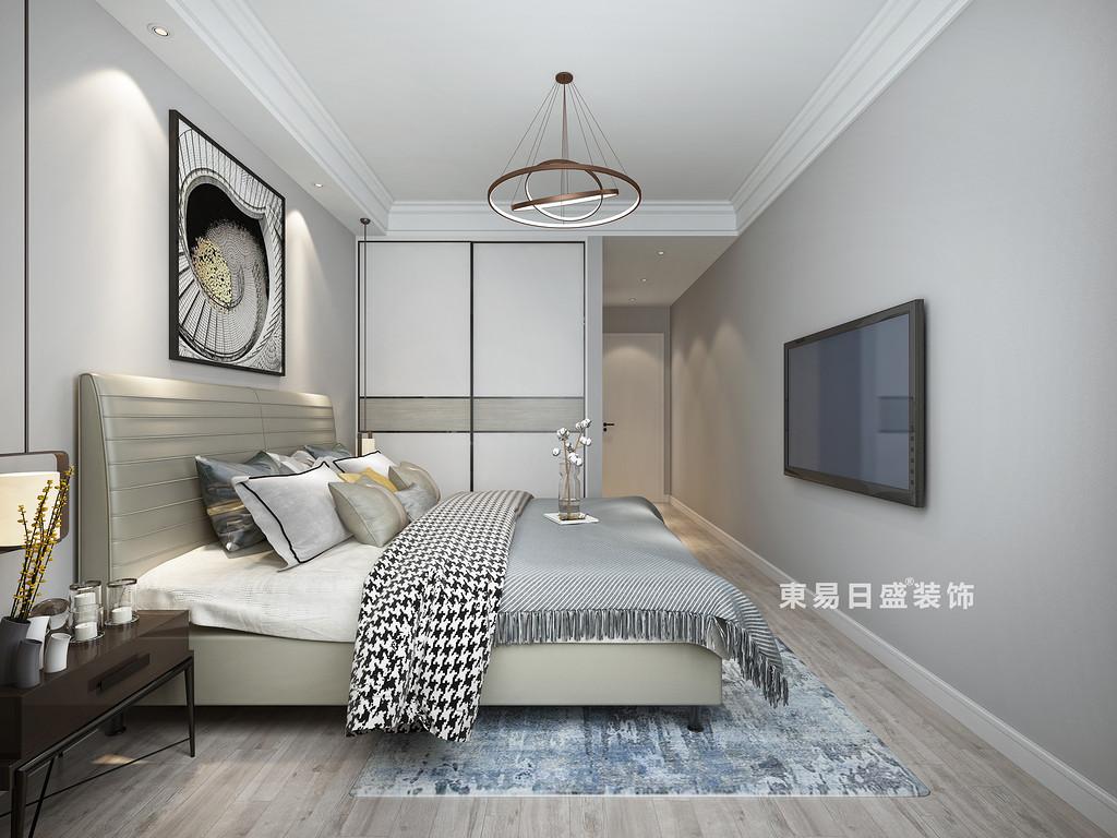 桂林四室三廳兩衛157㎡現代風格:主臥室裝修設計效果圖