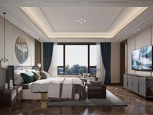新中式风格风格卧室装修效果图