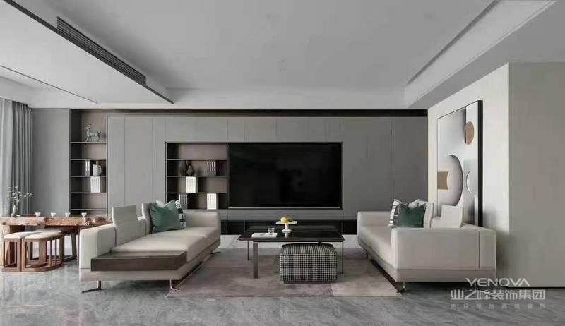 通过许多不同质感及深浅的灰色,让空间呈现出丰富的层次感 白色则是作为突显灰色的素材。