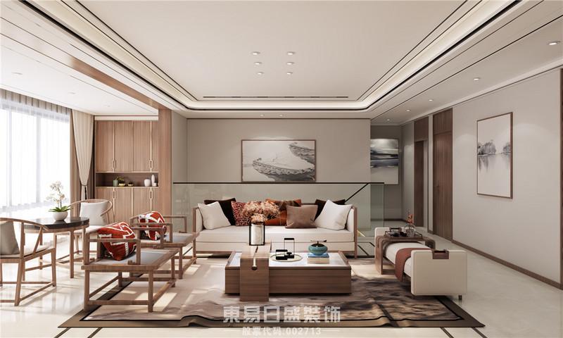 临沂家装公司新中式风格-客厅