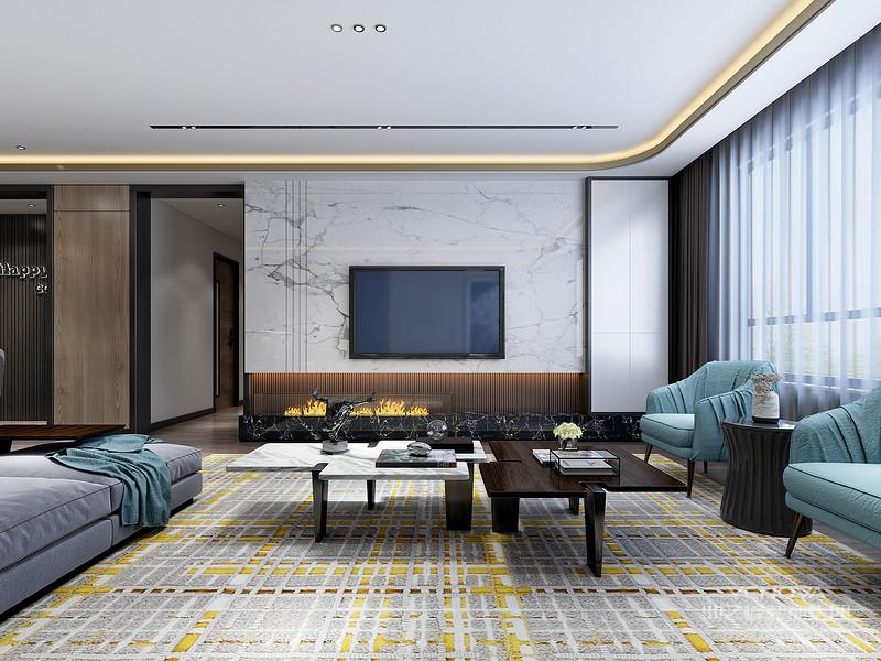 客厅中的沙发,虽然没有了欧式的华丽与繁琐,但是它的简单大方依然很美丽,并且这样的沙发可以做更多的人,满足了家里客人多的需求。