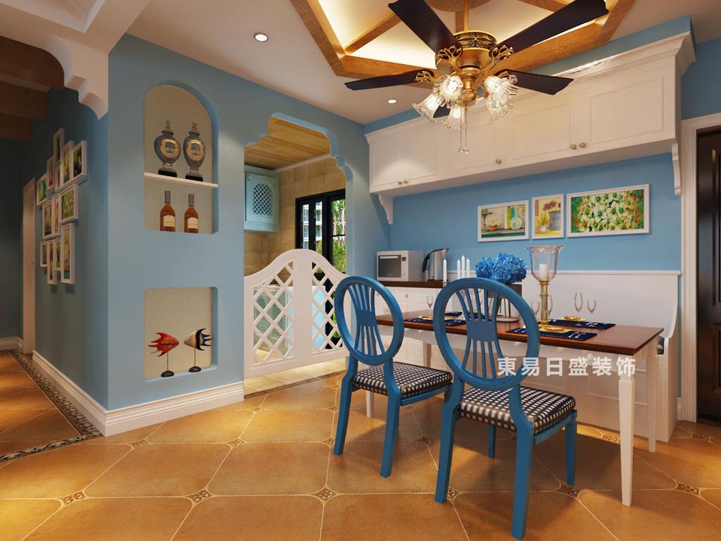 桂林彰泰•睿城四居室130㎡地中海风格:餐厅厅装修设计效果图