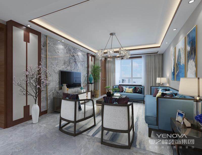 所以家居环境的设计应该与环境相互融洽相处,所以所设计的新中式风格应该与现代化的环境相互适应。