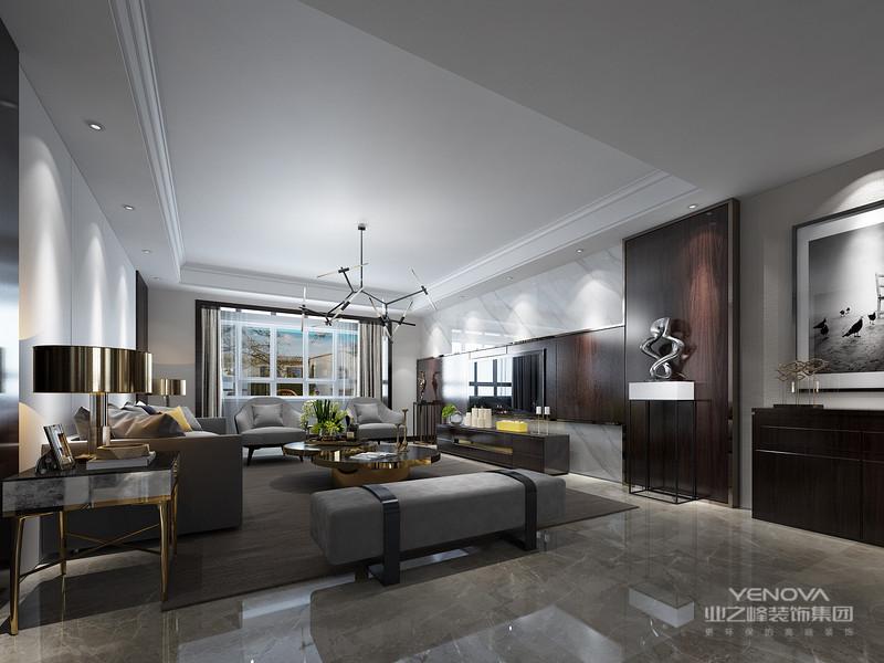 简洁大方奠定房屋装修基调,用不同的颜色与时尚元素令现代轻奢风格家居富有生命色彩,柠檬黄、纯净黑以家私、背景墙、灯装饰等形态出现,让空间不再简单纯净,配合精彩的新型石材,突显了主人追求高品质生活的时髦品味