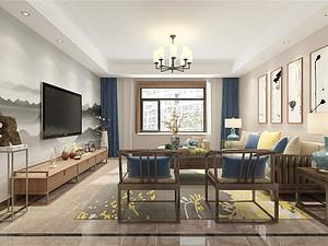 银座花园-三室两厅装修140平米-现代+新中式风格装修案例赏析