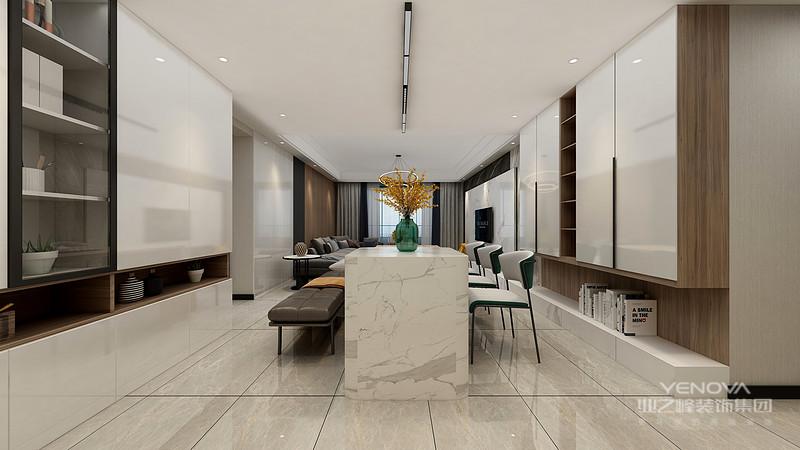 )室内墙面、地面、顶棚以及家具陈设乃至灯具器皿等均以简洁的造型、纯洁的质地、精细的工艺为其特征。