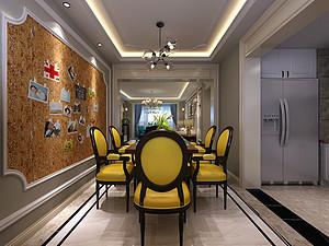 美式风格餐厅装修效果图