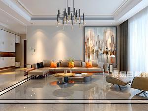 圣兰菲诺-平层洋房装修158平米-极致简奢风格装修赏析