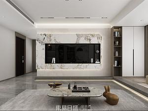 中南樾府-160平米三居室-現代簡約風格案例賞析
