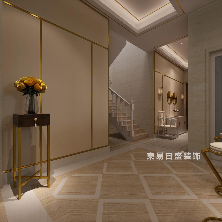 桂林冠城?青秀庭院別墅550㎡現代簡約風格:樓梯裝修設計效果圖