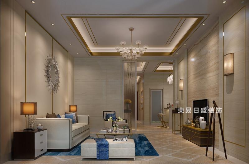 桂林冠城•青秀庭院别墅550㎡现代简约风格:客厅装修设计效果图