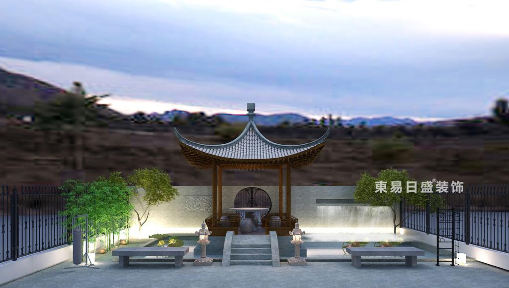 桂林冠城•青秀庭院别墅550㎡现代简约风格:庭院装修设计效果图