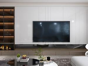 鼎秀家園-150平米三居室-現代風格案例賞析