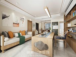 奧德海棠-130平米三居室-新中式風格案例
