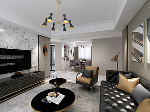 新古典風格客廳裝修效果圖