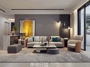 金水河畔-180平米四居室-現代極簡風格效果案例