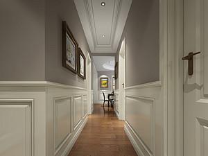 美式风格走廊装修效果图
