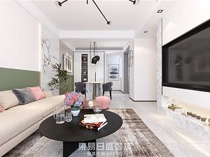 濱河陽光-120平米三居室-現代簡約風格案例