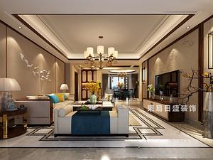 桂林彰泰?春天三居室150㎡新中式裝修風格