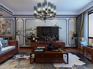 新中式风格客厅装修效果图