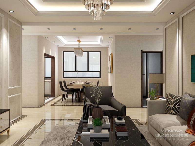 在家具配置上,白亮光系列家具,独特的光泽使家具倍感时尚