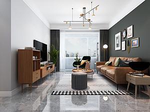 93平米现代简约风格,清新明亮,感受家的温暖