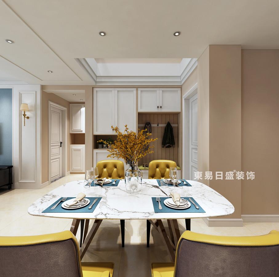 桂林复式楼120㎡美式风格:餐厅装修设计效果图