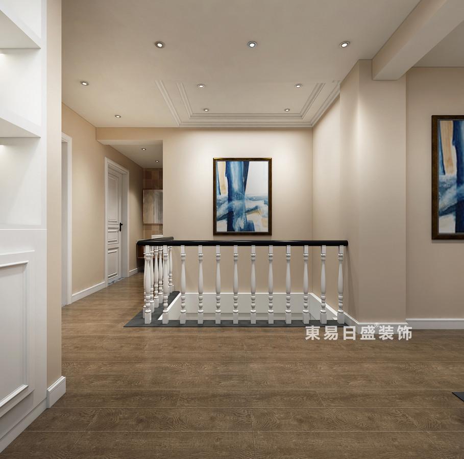 桂林复式楼120㎡美式风格:书房过道装修设计效果图
