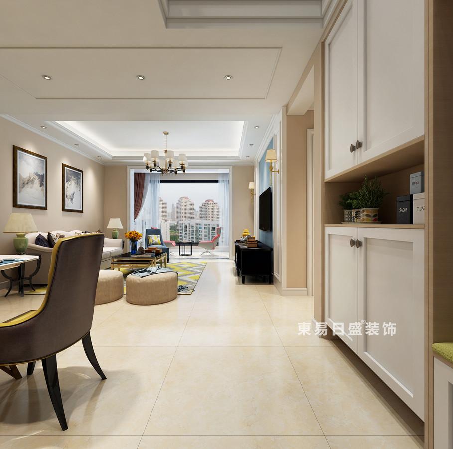 桂林復式樓120㎡美式風格:門廳裝修設計效果圖