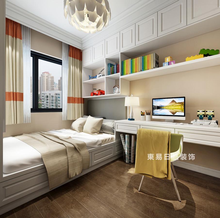 桂林復式樓120㎡美式風格:次臥室裝修設計效果圖