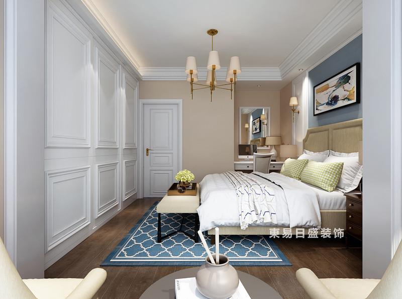 桂林复式楼120㎡美式风格:主卧室灯饰装修设计效果图