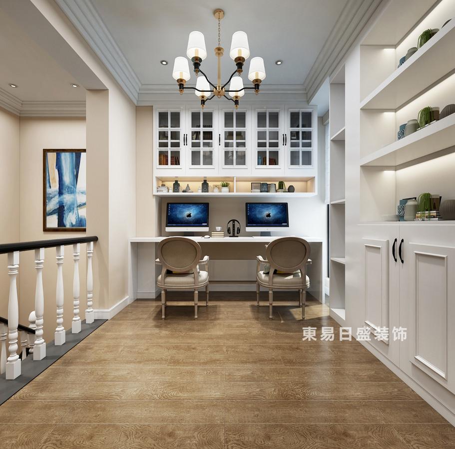 桂林復式樓120㎡美式風格:書房裝修設計效果圖