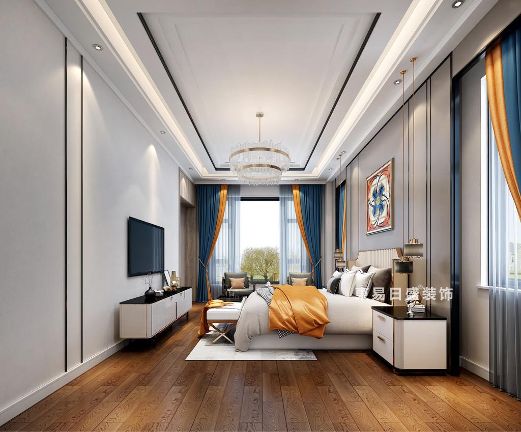 桂林自建別墅1600㎡中式和歐式混搭風格:兒子房飄窗裝修設計效果圖