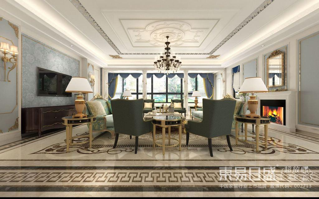 现代法式风格之中,留白与华丽配色是最常用的手法,留白的手法通常更能体现出法式乡村风格的内敛气质与浪漫的风情,华丽的配色搭配其中,一种温馨浪漫的氛围悄然营造出来,常用的配色为金色、深色的木色为主色调给整体空间带来协调的美感。