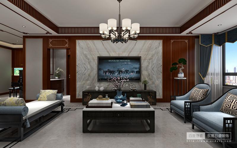 一樓客廳電視背景墻